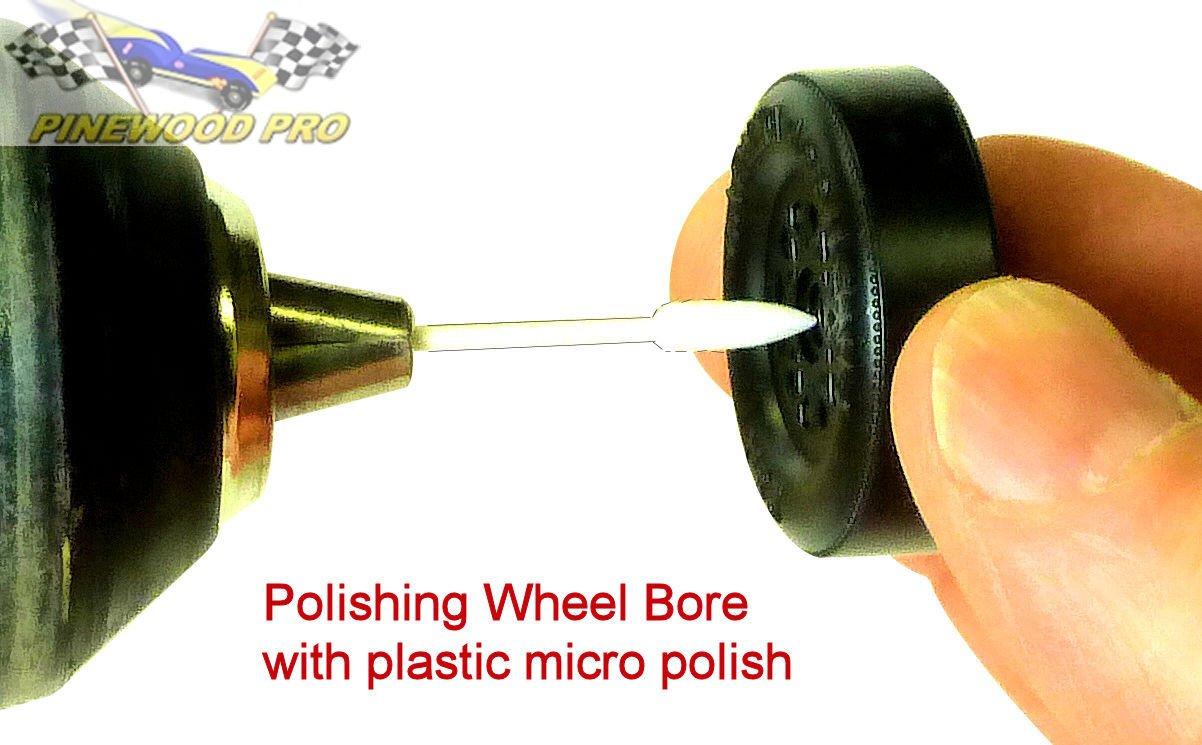PRO Pinewood Derby Wheel Bore Polishing Kit by Pinewood Pro
