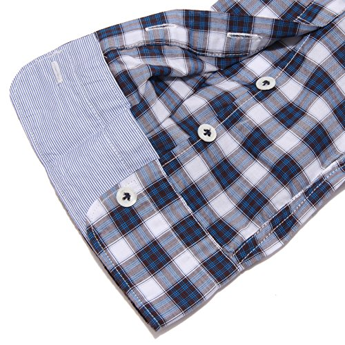 marrone Shirt Brown Camicia Aglini blue 4364v Lorenzo Blu Men Uomo wnYaazqxv