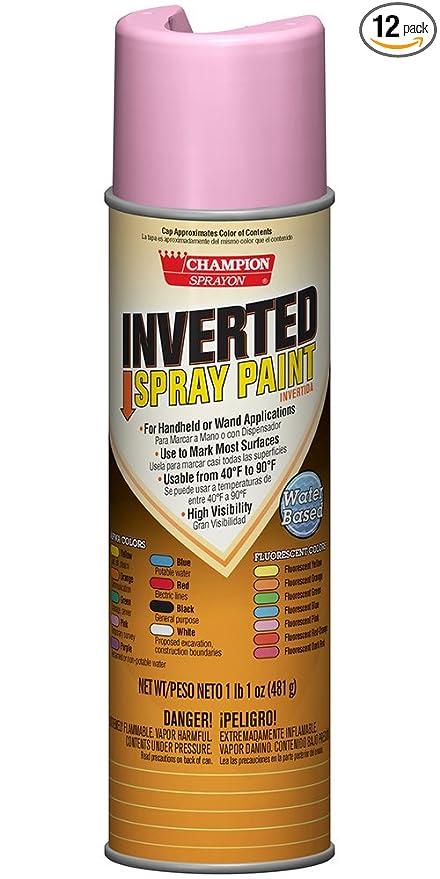 Champion 4854 Inverted Spray Paint, APWA Pink (Pack of 12)