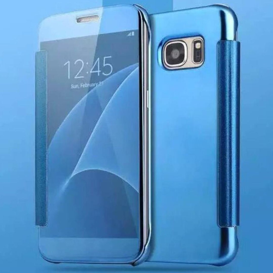 TAITOU Galaxy S9 Shell, Translucent Window View Flip Cover, Shiny Plating  Make Up Mirror, Smart Sleep/Awake Hard Case For Samsung Galaxy S9, Scan QR