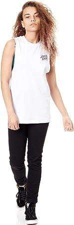 Santa Cruz Screaming Hand Outline Camiseta Tirantes (Tank Top) Mujer Blanco 40 M (Medium)