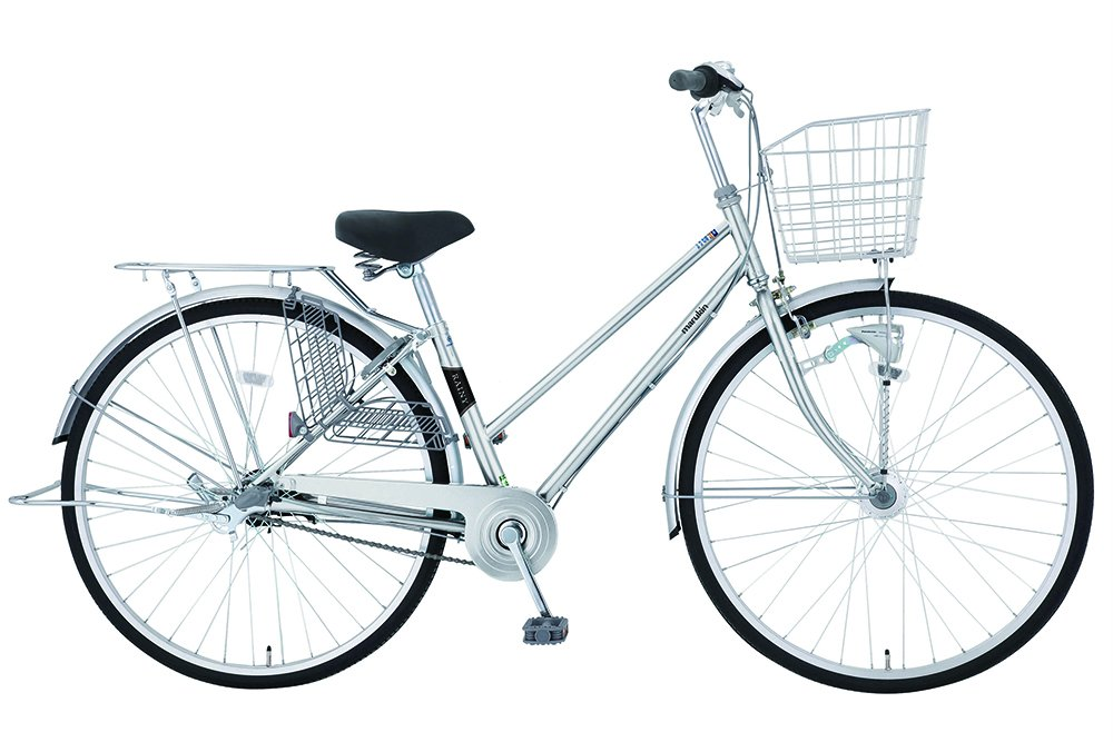 marukin(マルキン) 完全組立 27インチ自転車 LEDオートライト シマノ製内装3段ギア レイニーホーム シルバー MK-18-013 シルバー B078LCV6ZH