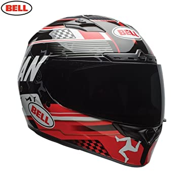 Bell Helmets Qualifier Dlx - Casco (talla 2XL), color negro y rojo
