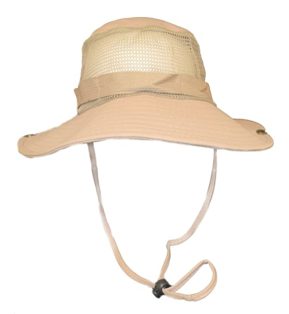 21cc30f2294 Image Unavailable. Image not available for. Color  Fisherman s Bucket Hat  with Mesh   Tan