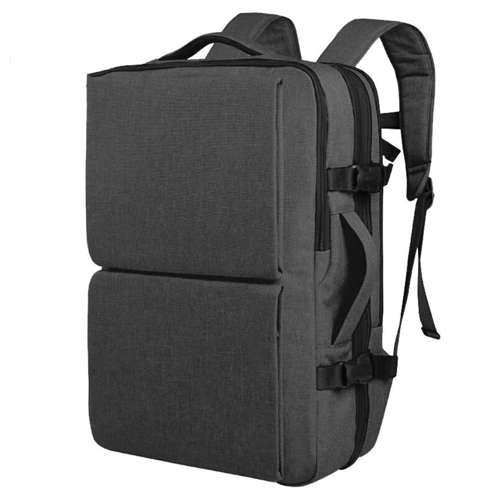 メンズバックパックビジネスバッグレジャーバッグスクールバッグラップトップバッグトラベルバッグ、大容量の盗難防止は、7種類を拡張することができます27 * 18/23 * 45cm CONGMING-bao (Color : Black ash, Size : Large) B07KNQJ54Y