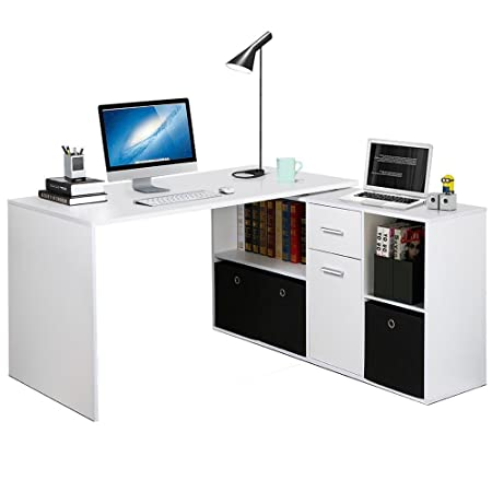 corner office table. Popamazing L-Shaped Corner Combination Computer Desk Large Study Table For Home And Office A