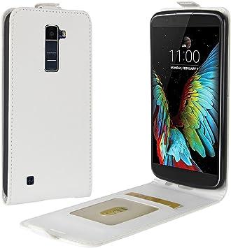 Funda® Capirotazo Billetera Funda para LG K10/LG M2 (Blanco ...