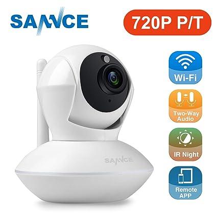 SANNCE IP Cámara de vigilancia 720P HD WiFi Pan / Tilt / Zoom inalámbrico de Seguridad