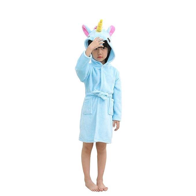 Unicornio Albornoz Niños Pjs Niñas Bata Niños Pijamas: Amazon.es: Ropa y accesorios