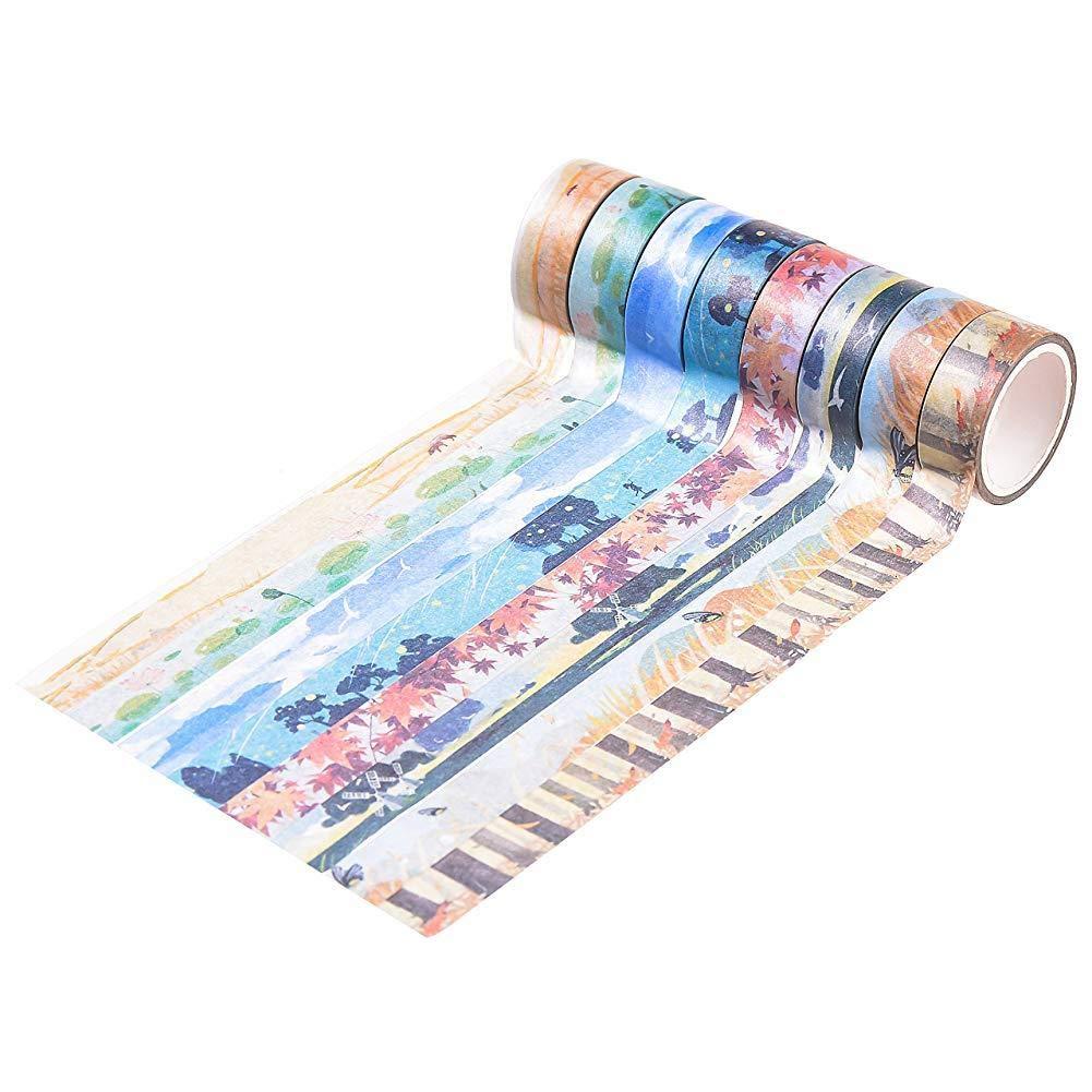 enmascarar Cinta Adhesiva para Scrapbooking Accesorio Decorativo 24 Rollos de Cinta de Washi