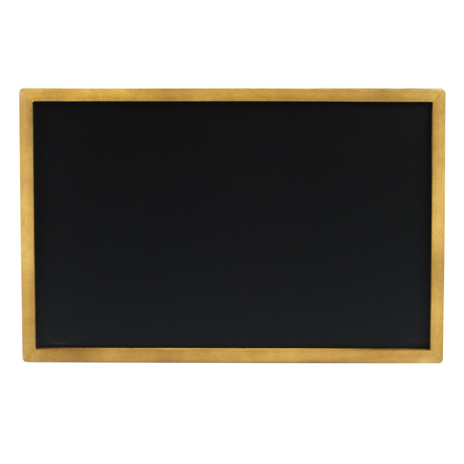 Porcelain Steel Magnetic Wall Mounted Chalkboard -17'' x 11'' with Circular Clip Hangers Dual Purpose Magnetic Signboard