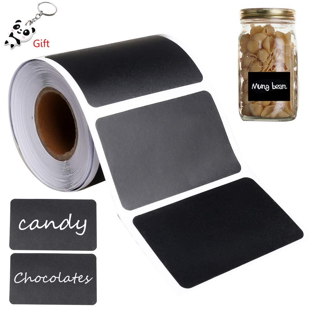 150 Pi/èces /Étiquettes Cuisine Tableau Noir Ardoise Sticker Amovible pour Pots et Bocaux Gagawin /Étiquettes Ardoise