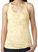 Yoga Clothing For You Ladies Sheer Burnout Banana Tank Top