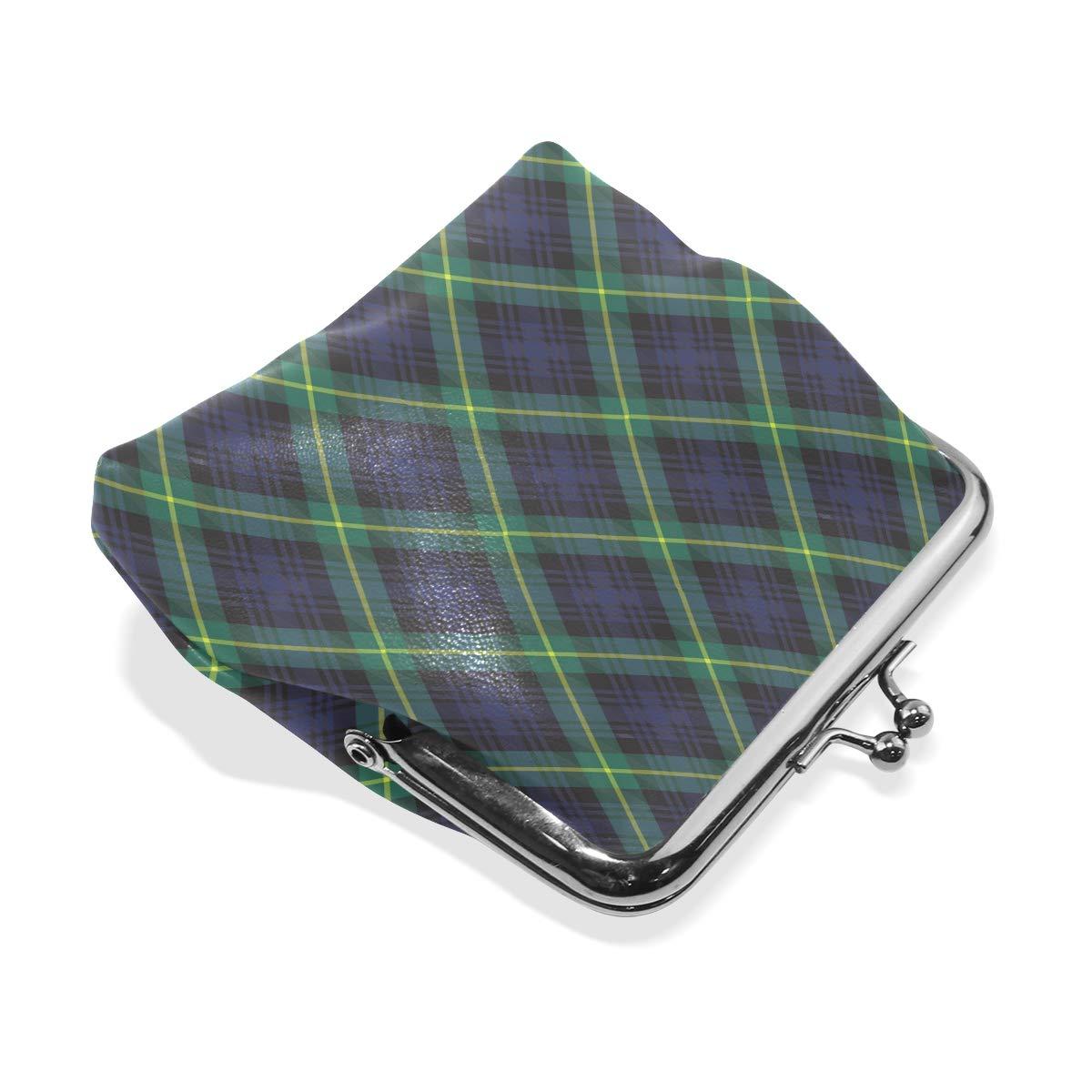 Exquisite Buckle Coin Purses Gordon Tartan Textile Vector Mini Wallet Key Card Holder Purse for Women
