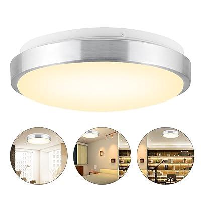13W Lampe de Plafond LED 960 Lumen Equivalent à Ampoule à Incandescence de 110W Plafonnier Rond LED pour Salle de Bain, Cuisine, Couloir,Chambre,3000K-Blanc Chaud