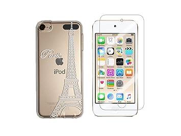 iPod Touch 5, Touch 6 NOVAGO – Carcasa Gel Impreso sólido y resistente + 1 cristal vidrio templado transparente resistente