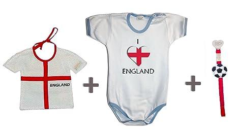 Zigozago - Juego Mundial Inglaterra compuesto de babero + ...