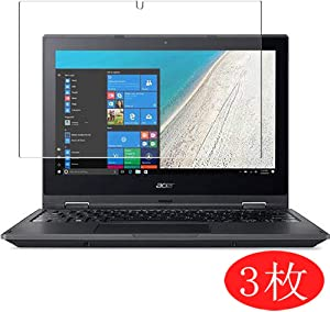 "【3 Pack】 Synvy Screen Protector for Acer Travelmate Spin B1 B118-R / B118-RN 11.6"" TPU Flexible HD Film Protective Protectors [Not Tempered Glass]"