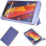 Maxku CHUWI Hi8 SE ケース高級PUレザーケース カバー 手帳型 軽量 全面保護型 スタンド機能付き スマートカバー (ブルー)