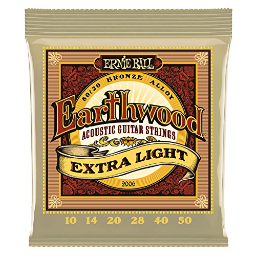 Ernie Ball Earthwood Extra Light 80/20 Bronze Acoustic Set,