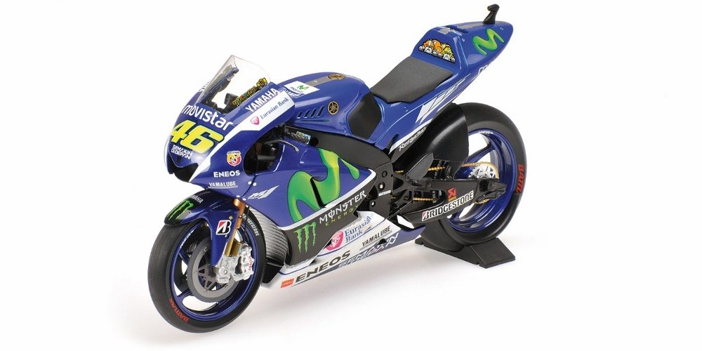 Yamaha Yzr-M1 Movistar Yamaha Motogp Valentino Rossi Motogp 2015 Diecast Motorcycle in 1:12 Scale by Minichamps