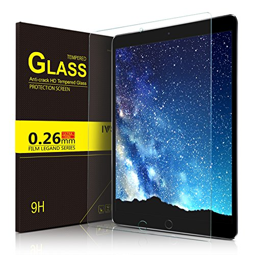 IVSO Apple New iPad Pro 12.9 2017 Screen Protector, Ultra-thin 9H Hardness Highest Quality HD Clear Premium Tempered Glass Screen Protector for Apple New iPad Pro 12.9 2017 inch 2017 - Highest Rated Case Ipad 4