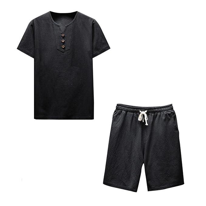 Amazon.com: siviki moda verano hombres Boys cómodo y lino ...
