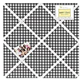 Sweet Jojo Designs Black and White Gingham Fabric Memory/Memo Photo Bulletin Board for Ladybug Collection