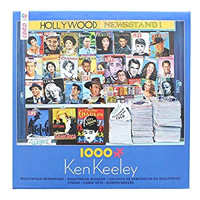Toynk Ken Keeley Hollywood Newsstand 1000 Piece Jigsaw Puzzle: Toys & Games
