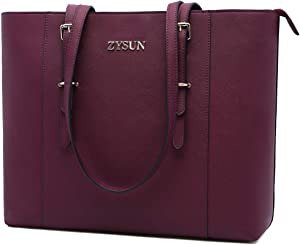 Laptop Bag for Women,17 inch Laptop Tote Bag Stylish Ladies Work Bag Durable Teacher Bags Professional Computer Bag for Office Business Travel,burgundy-17in
