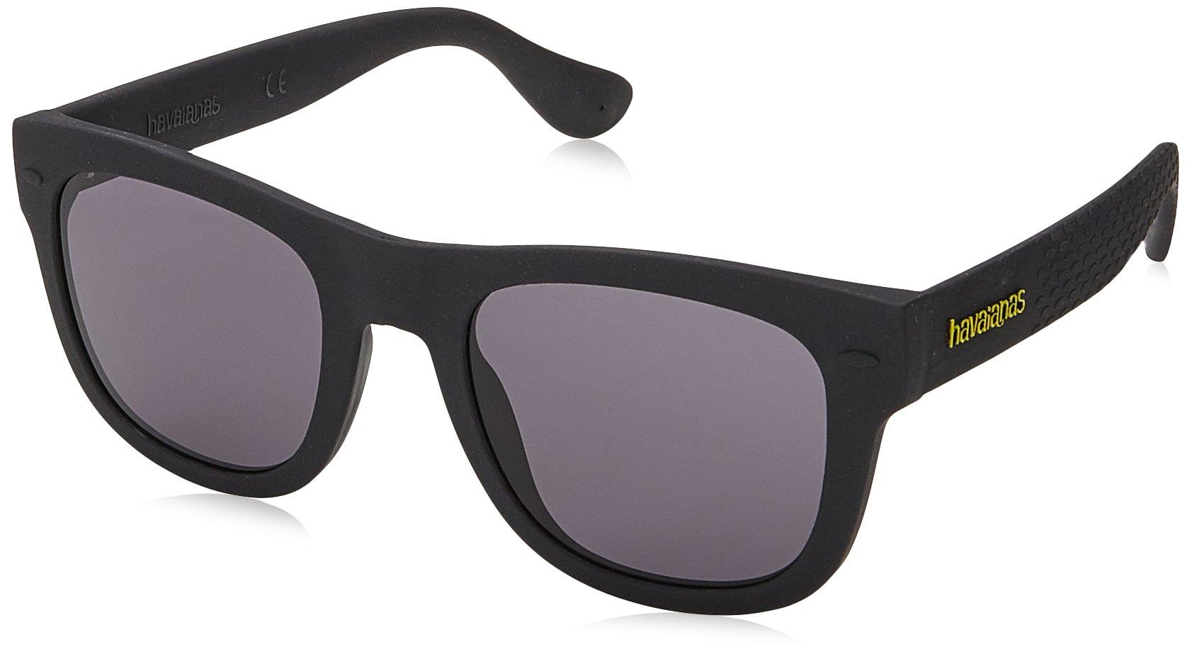 Havaianas Paraty/l Square Sunglasses, Black, 52 mm