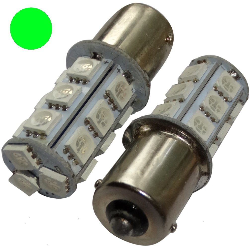 Aerzetix: 2x ampoule P21W R5W R10W 12V 18LED SMD vert base 1156 SK2-C14067-AE53 x2
