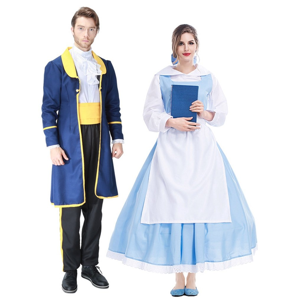 Adult Halloween Costumes Anime Princess & Prince Cosplay Dress Up