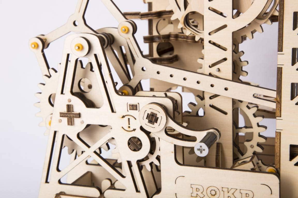 Robotime Marble Roller Coaster Clockwork Mechanical 3D Puzzle Game Woodcraft Construction Kit Adult Craft Set Puzzle Present Lift Coaster