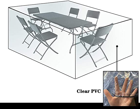 Amazon Com Ljianw Garden Furniture Covers Waterproof Transparent Garden Rattan Furniture Covers Windproof Waterproof Pvc Patio Table Cover For Outdoor Chairs 33 Size Color Clear Size 106x106 70cm Garden Outdoor