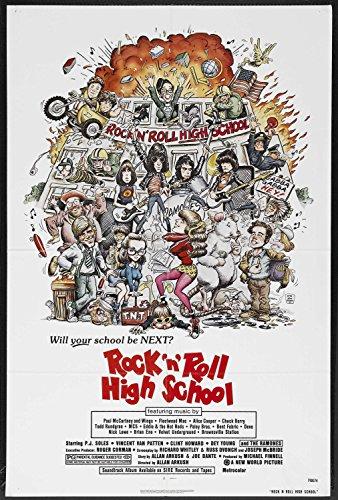ROCK N' ROLL HIGH SCHOOL original 1979 27x41 one sheet movie poster THE RAMONES/P.J. SOLES (Pj Soles Rock And Roll High School)