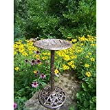 Oakland Living Hummingbird Bird Bath, Antique Bronze