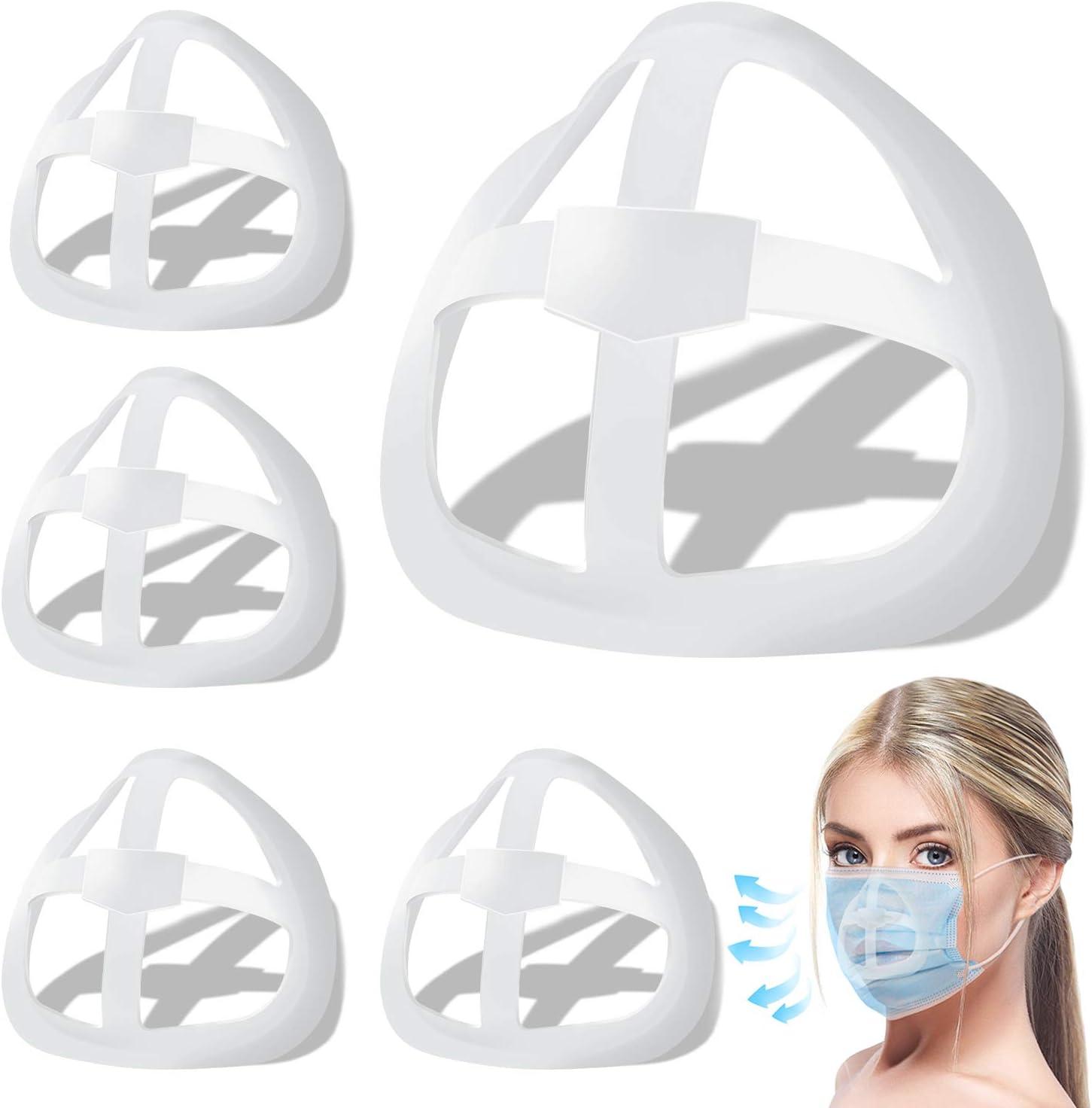 Du/šial 3D Bracket Comfort Breathable Reusable Silicone Face Inner Bracket Support Frame