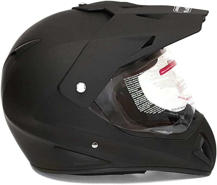 MMG Helmet Dual Sport Off Road Motorcycle Dirt Bike ATV FlipUp Visor XX-Large 27V Matte Black