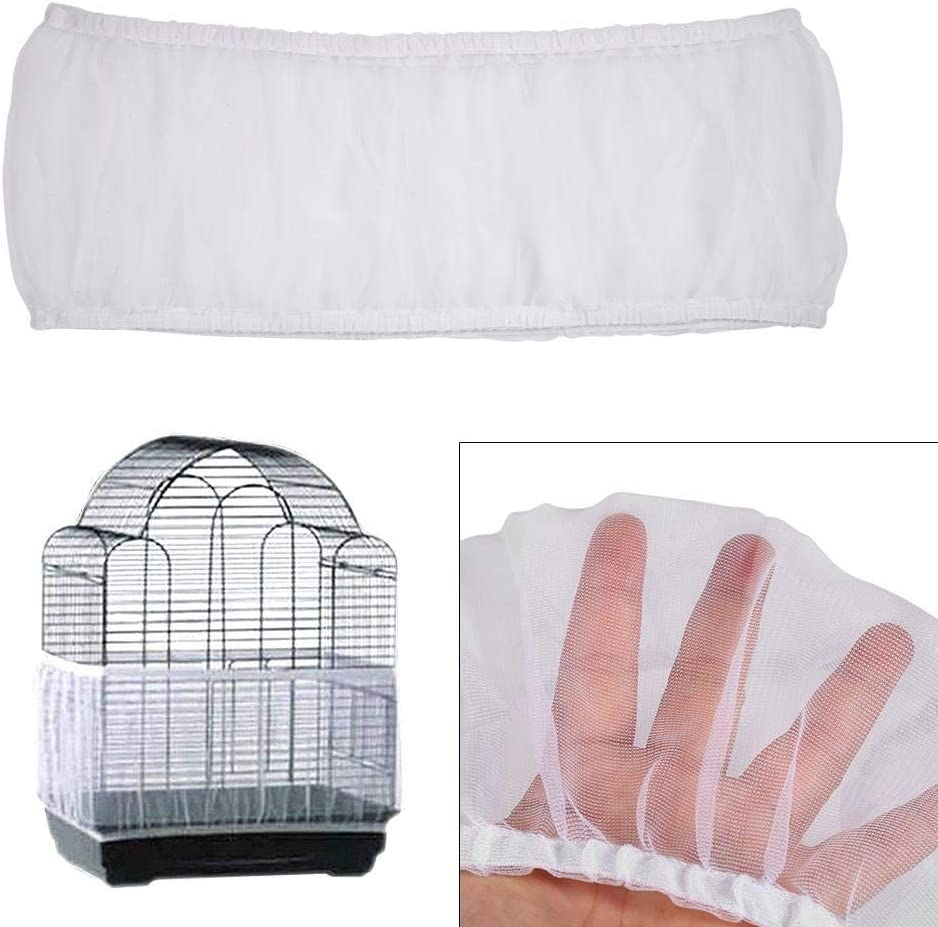 Blue Bird Cage Cover New Nylon Mesh Seed Catcher Shell Guard Products for Pet Parrots