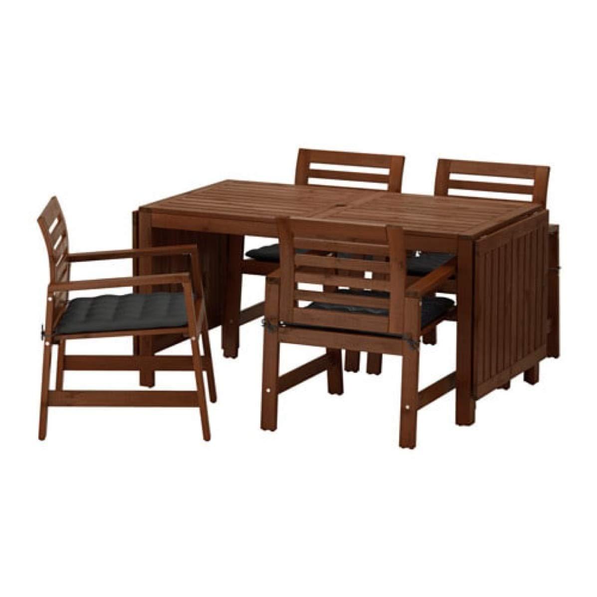 Ikea Applaro 091.569.83 - Mesa y 4 sillones para Exterior ...