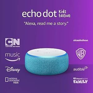 Echo Dot (3rd Gen) Kids Edition, an Echo designed for kids with parental controls - Blue