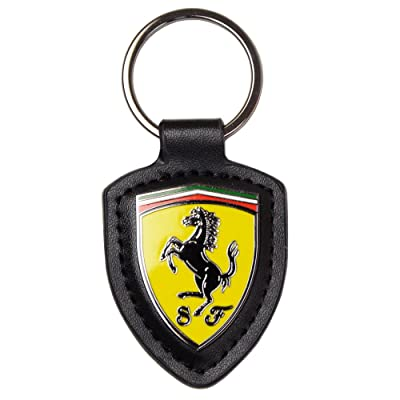 Scuderia Ferrari F1 Leather Shield Keychain: Clothing
