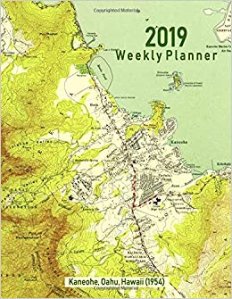 2019 Weekly Planner Kaneohe Oahu Hawaii 1954 Vintage Topo Map