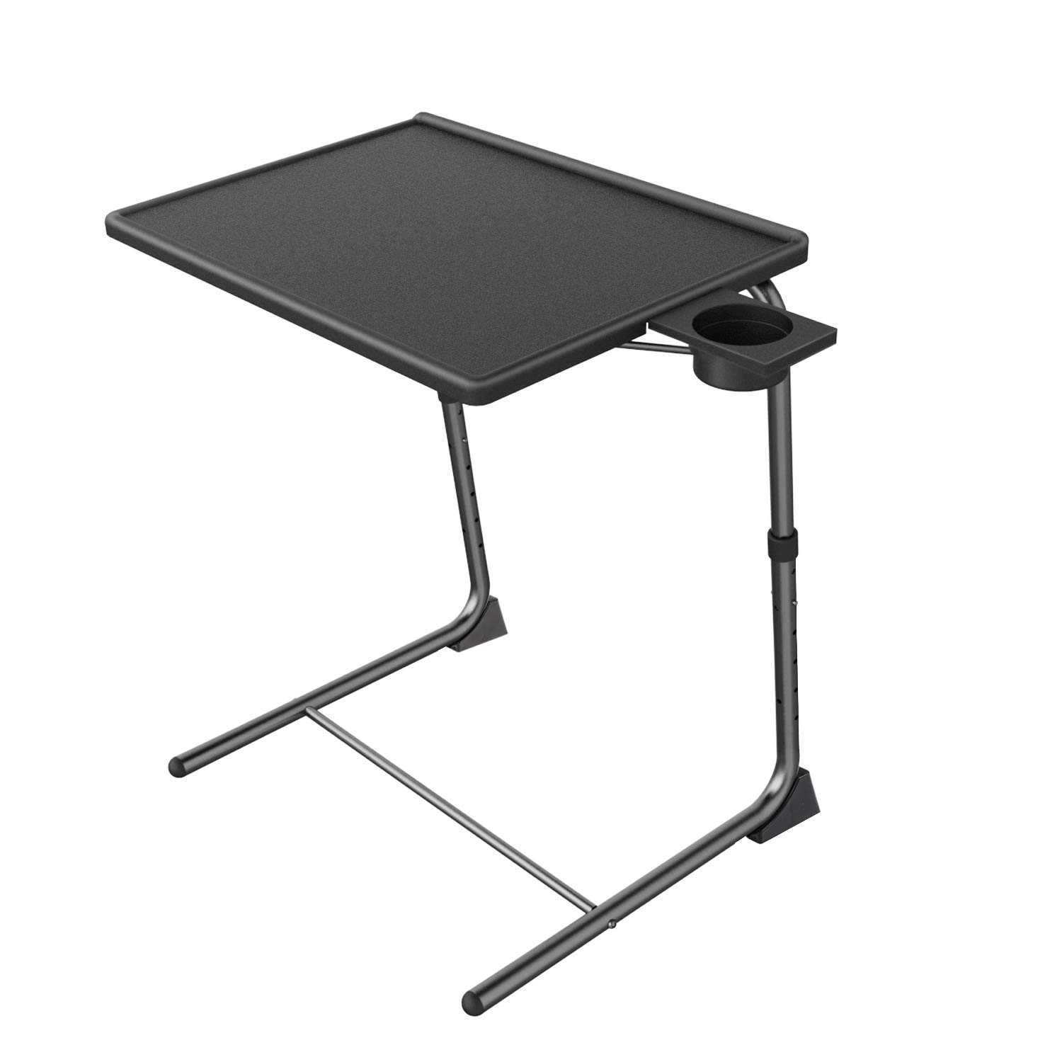 Adjustable TV Tray Table - TV Dinner Tray on Bed & Sofa, Comfortable Folding Table with 6 Height & 3 Tilt Angle Adjustments by HUANUO by HUANUO