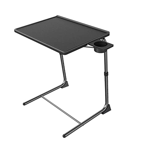Tremendous Adjustable Tv Tray Table Tv Dinner Tray On Bed Sofa Comfortable Folding Table With 6 Height 3 Tilt Angle Adjustments By Huanuo Download Free Architecture Designs Scobabritishbridgeorg