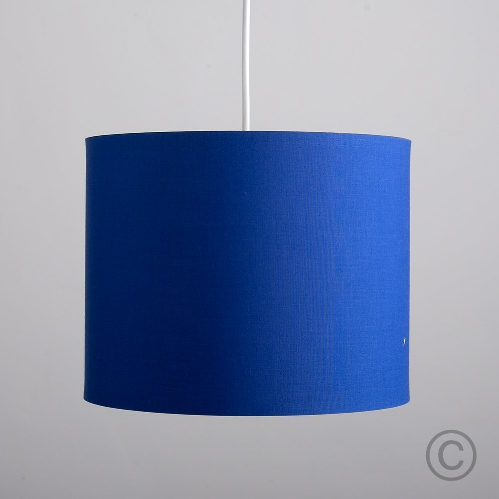Small modern rolla polycotton blue cylinder ceiling pendant small modern rolla polycotton blue cylinder ceiling pendant table lamp drum light shade amazon lighting aloadofball Image collections