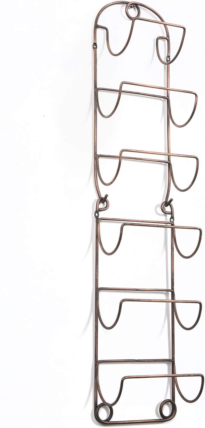 SODUKU Towel Rack Wall Mounted Metal Wine Rack Towel Shelf for Bathroom Antique Bronze