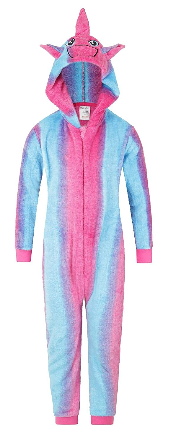 The PyjamaFactory Cute Unicorn Rainbow All in One Romper Sleepsuit 5 to 14 Years Onesie