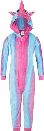 The PyjamaFactory Mono de pijama con diseño de unicornio, todo en uno, de 5 a 14 años